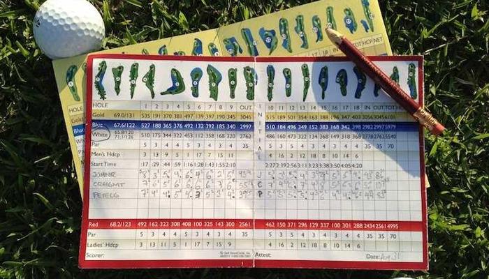 Cách tính điểm golf trên scorecard đơn giản